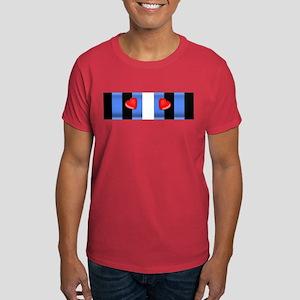 LEATHER PRIDE BAR/2 HEARTS Dark T-Shirt