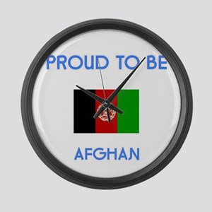 Proud to be Afghan Large Wall Clock