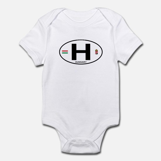 Hungary Euro Oval Infant Bodysuit
