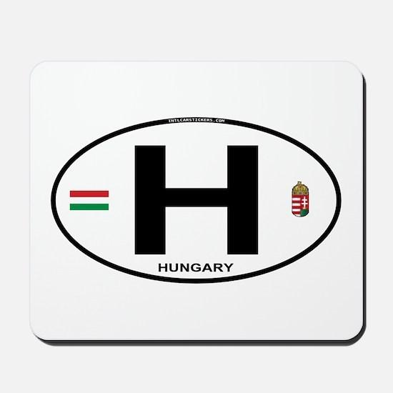 Hungary Euro Oval Mousepad