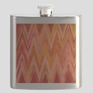 ikat chevron watercolor zig zag zigzag triba Flask
