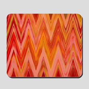 ikat chevron watercolor zig zag zigzag t Mousepad