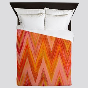 ikat chevron watercolor zig zag zigzag Queen Duvet