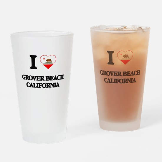 I love Grover Beach California Drinking Glass