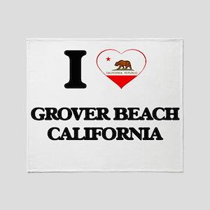 I love Grover Beach California Throw Blanket