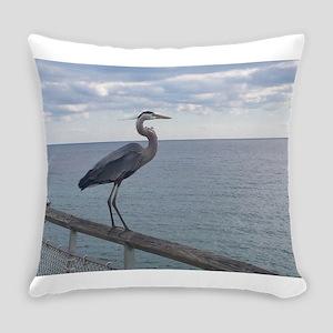 Dock Heron Everyday Pillow