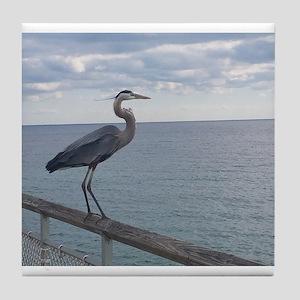 Dock Heron Tile Coaster