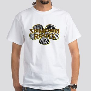 Samoan Roots Tribal White T-Shirt