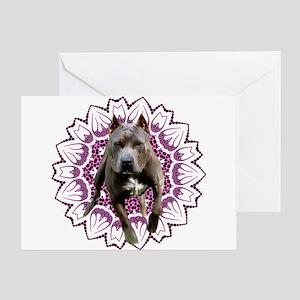 Pit Bull Kaleidoscope Graphic #P4 Greeting Card