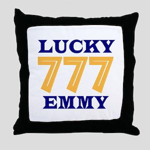 Lucky Emmy Throw Pillow
