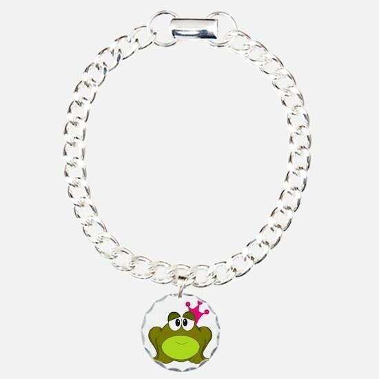 Frog Princess Pink Crown Bracelet