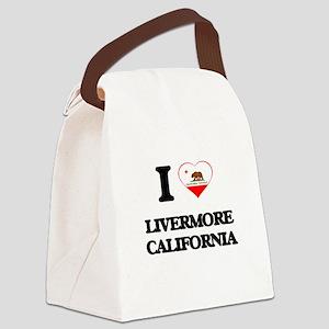 I love Livermore California Canvas Lunch Bag