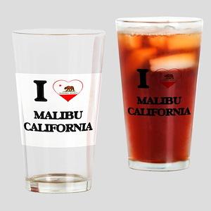 I love Malibu California Drinking Glass