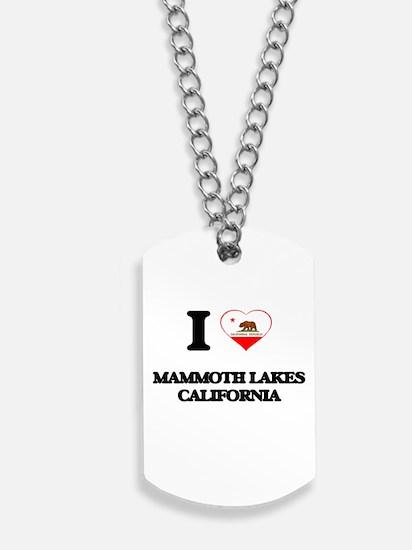 I love Mammoth Lakes California Dog Tags
