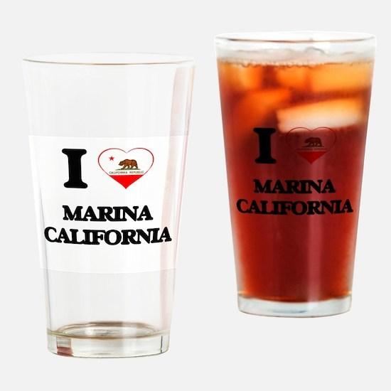I love Marina California Drinking Glass