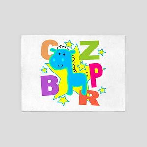 Kids Blue Horse 5'x7'Area Rug