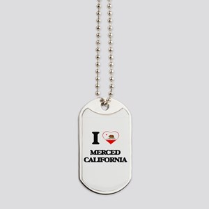 I love Merced California Dog Tags