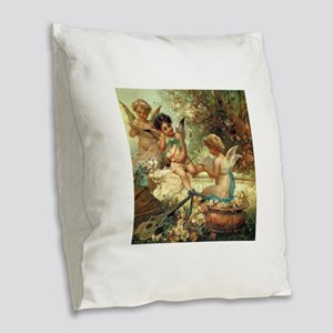 Victorian Angels by Zatzka Burlap Throw Pillow
