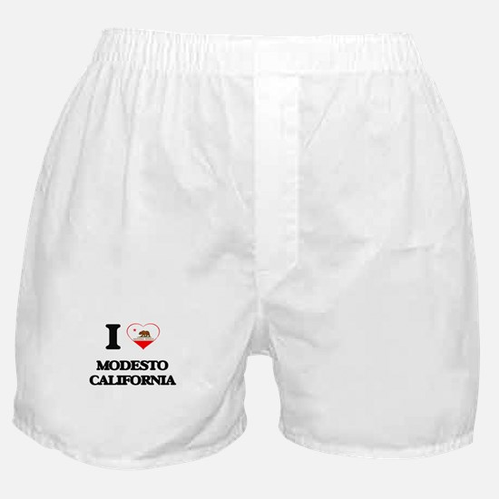 I love Modesto California Boxer Shorts