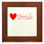 Bride Framed Tile