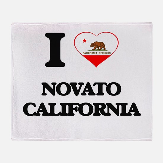 I love Novato California Throw Blanket