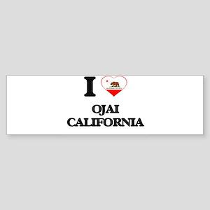 I love Ojai California Bumper Sticker