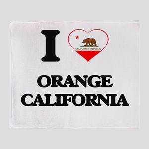I love Orange California Throw Blanket