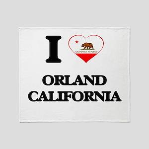 I love Orland California Throw Blanket