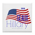 Geaux Hillary 2016 Tile Coaster