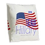 Geaux Hillary 2016 Burlap Throw Pillow