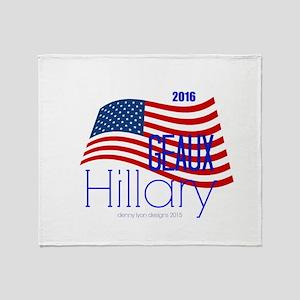 Geaux Hillary 2016 Throw Blanket