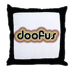Doofus Throw Pillow