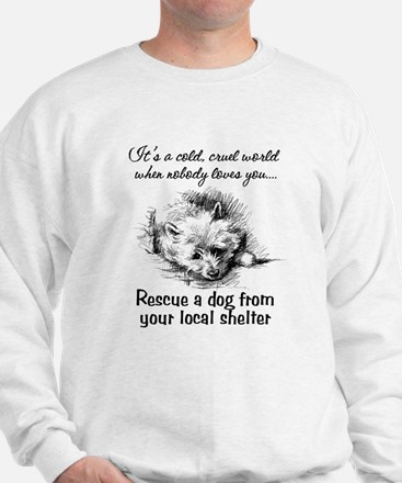 Rescue A Dog Sweatshirt