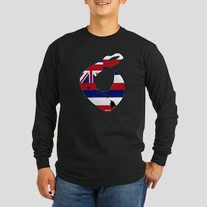 Hawaiian Hook Long Sleeve Dark T-Shirt
