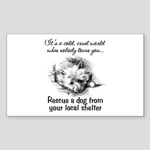 Rescue A Dog Rectangle Sticker
