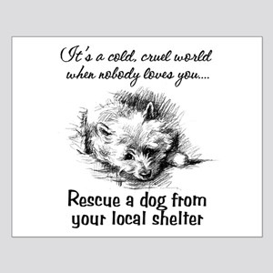 Rescue A Dog Small Poster