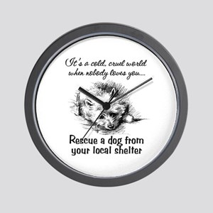Rescue A Dog Wall Clock