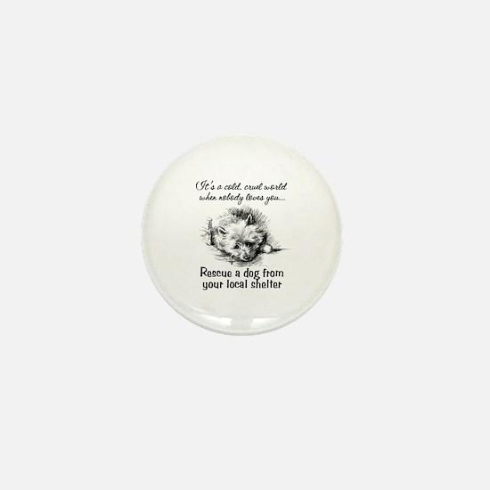 Rescue A Dog Mini Button (10 pack)