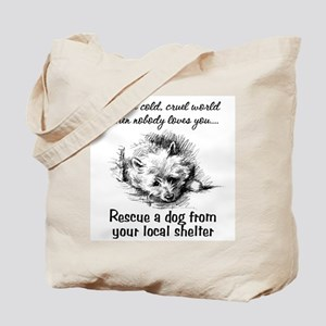 Rescue A Dog Tote Bag