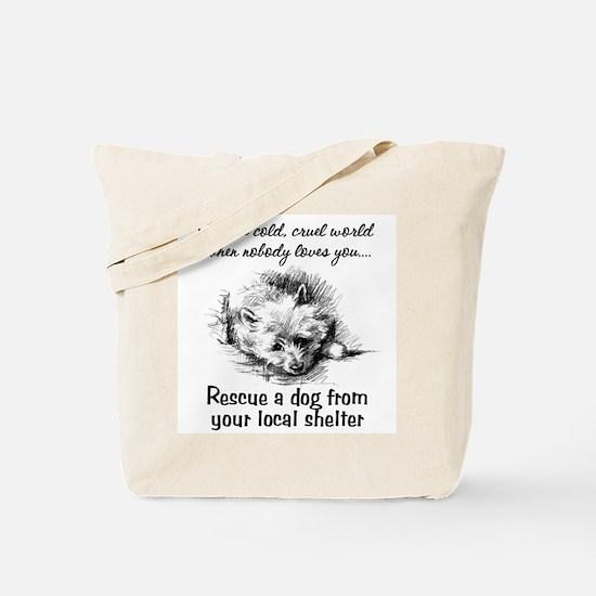 Rescue A Dog Tote Bag