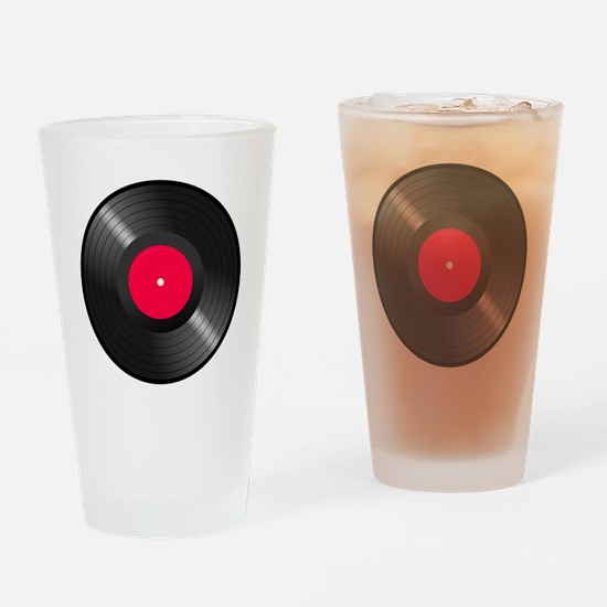 Vinyl Record Drinking Glass