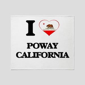 I love Poway California Throw Blanket