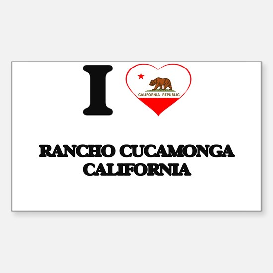 I love Rancho Cucamonga California Decal