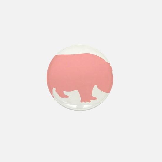 Pink Hippo Mini Button