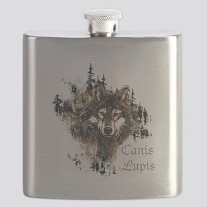 Canis Lupis Forest Wolf Head or Logo Flask