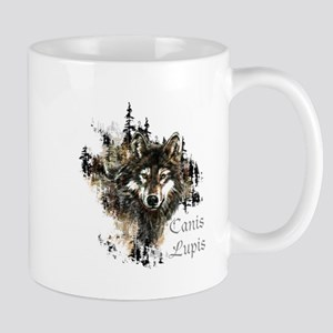 Canis Lupis Forest Wolf Head or Logo Mugs