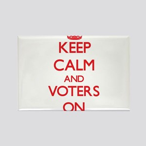 Keep Calm and Voters ON Magnets