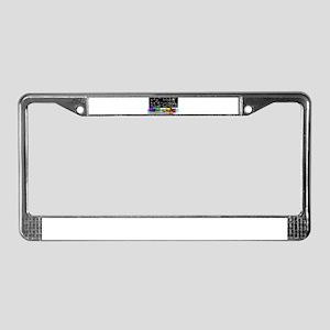 Rainbow Chemistry Lab License Plate Frame
