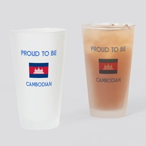 Proud to be Cambodian Drinking Glass