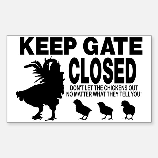CHICKEN SIGN Decal